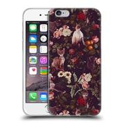 Official Burcu Korkmazyurek Animals Cat And Floral Soft Gel Case for Apple iPhone 6 / 6s