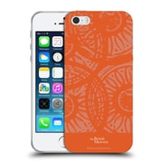 Official British Museum Community and Nurture Orange Stamps Soft Gel Case for Apple iPhone 5 / 5s / SE