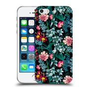 Official Burcu Korkmazyurek Floral 2 Nasturtium Night Soft Gel Case for Apple iPhone 5 / 5s / SE