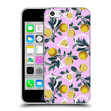Official Burcu Korkmazyurek Tropical Geometric And Lemon Soft Gel Case for Apple iPhone 5c