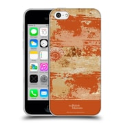 Official British Museum Decoration and Ceremony Distressed Orange Texture Soft Gel Case for Apple iPhone 5c