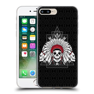 Official Chobopop Illustrations Indian Skull Soft Gel Case for Apple iPhone 7 Plus