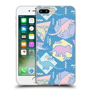 Official Chobopop Dinosaurs 90's Pastel Soft Gel Case for Apple iPhone 7 Plus