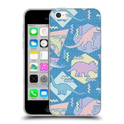 Official Chobopop Dinosaurs 90's Pastel Soft Gel Case for Apple iPhone 5c