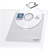 C-Line Products Self-Adhesive CD Holder 5 .33 x 5 .66 10-PK - Set of 5 PK (CLNP302)