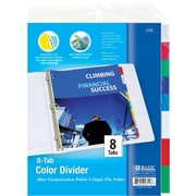 Bulk Buys BAZIC 3-Ring Binder Dividers w/ 8-Insertable Color Tabs Case Of 24 (DLRDY241009)