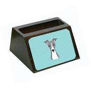 Carolines Treasures Checkerboard Blue Italian Greyhound Business Card Holder (CRLT65453)