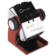 Eldon Office Products Wood Tones Open Rotary Business Card File Holds 400 2 5/8 x 4 Cards, Mahogany (AZERTY21236)