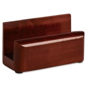 Eldon Office Products Wood Tones Business Card Holder, Capacity 50 2 1/4 x 4 Cards, Mahogany (AZERTY20813)