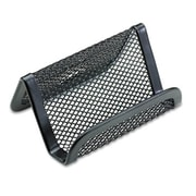 Eldon Office Products Mesh Business Card Holder, Capacity 50 2 1/4 x 4 Cards, Black (AZERTY21276)