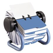 Eldon Office Products Colored Open Rotary Business Card File with 24 Guides, Blue (AZERTY21305)