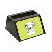 Carolines Treasures Checkerboard Lime Green Dalmatian Business Card Holder (CRLT65637)