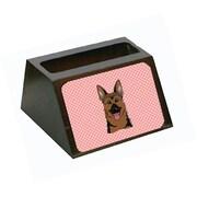 Carolines Treasures Checkerboard Pink German Shepherd Business Card Holder (CRLT65580)