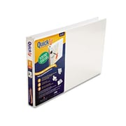 Schneider. Quick Fit Ledger D-Ring Binder, 1'' Capacity, 11 x 17, White (AZERTY21817)