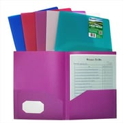 C-Line Products Ecological Two-Pocket Heavyweight Poly Portfolio - Color May Vary - Set of 18 Folders (CLNP067)
