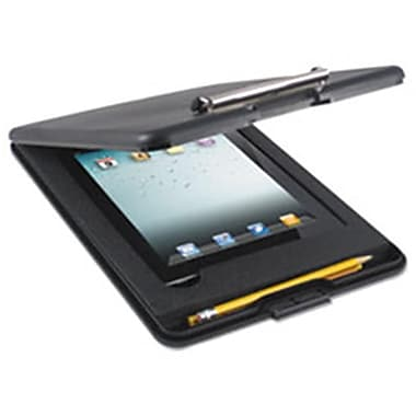Saunders SlimMate Storage Clipboard with iPad 2nd Gen 3rd Gen Compartment, Black (AZTY13959)
