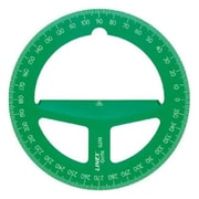 Linex 4 in. Translucent Green Circular Protractor (ALV25408)