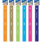 "Bulk Buys BAZIC Asstd Color 12"" (30cm) Stainless Steel Ruler w/ Non Skid Back Case Of 24 (DLRDY245869)"