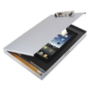Saunders Storage Clipboard with iPad 2nd Gen 3rd Gen Compartment, Silver (AZTY13956)