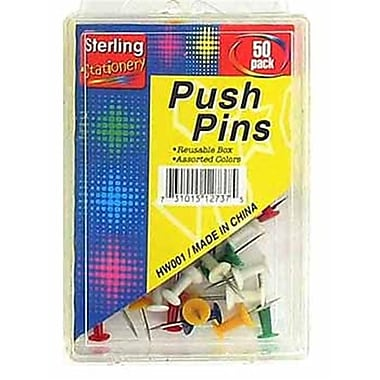 Bulk Buys Colored Push Pin Set Case Of 20 (DLRDY137444)