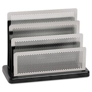 Eldon Office Products Mini Sorter, Three Stepped Sections, 7 1/2 x 3 1/2 x 5 3/4, Metal/Black (AZERTY21329)