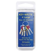 Key-Write 040106 Large Heat Shrink Key ID Sleeves, Pack of 4 (ACHR7088)