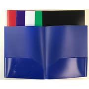 Three Leaf 2-Pocket Poly Portfolio - Case of 48 (DLR335011)