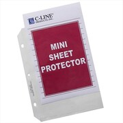 C-Line Products Heavyweight Polypropylene Sheet Protector Mini Clear 8 .5 x 5 .5 50-BX - Set of 2 BX (CLNP246)