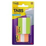 3M-Commercial Tape Div File Tabs - Green & Orange (AZTY00244)