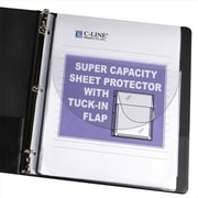 C-Line Products Super Capacity Sheet Protector with Tuck-In Flap 11 x 8 .5 10-PK - Set of 2 PK (CLNP215)