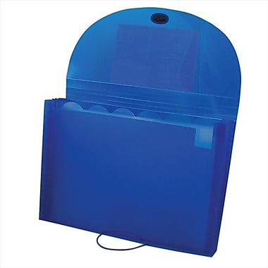 C-Line Products Ecological 7-Pocket Letter Size Expanding File Blue - Set of 4 Files (CLNP157)