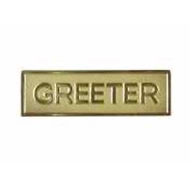 Swanson Christian Supply 0.63 X 2.13 Magnetic Greeter Gold Badge (ANCRD204)