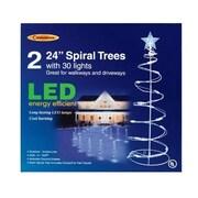 Celebrations E44G4915 2 ft. Spiral Tree Driveway Markers, White LED Light (ACHR12876)
