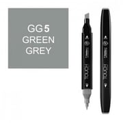 ShinHan Art Twin Green Grey 5 Marker, Black (LVN146)
