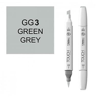 ShinHan Art Twin Green Grey 3 Marker, White (LVN2466)