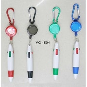 DDI Retractable Click Pen with Carabiner Lanyard Case Of 144 (DLRDY247090)