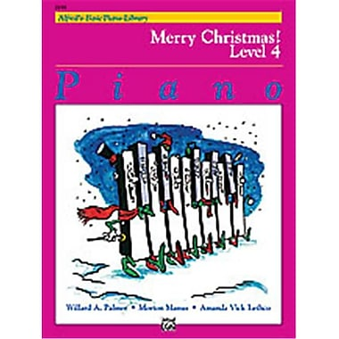 Alfred Basic Piano Course- Merry Christmas Book 4 - Music Book (ALFRD40724)