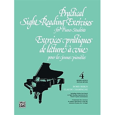 Alfred Practical Sight Reading Exercises for Piano Students- Book 4 - Music Book (ALFRD44281)