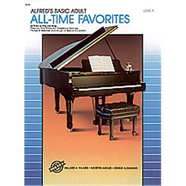 Alfred Basic Adult Piano Course- All-Time Favorites Book 1 - Music Book (ALFRD40555)