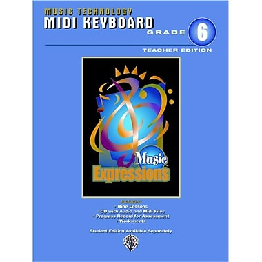 Alfred Music Expressions Grade 6 (Middle School 1): MIDI Keyboard (Teacher Edition) - Music Book (ALFRD22762)