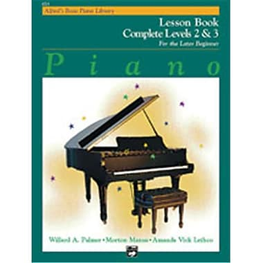 Alfred Basic Piano Course- Lesson Book Complete 2 & 3 - Music Book (ALFRD40797)