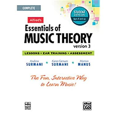 Alfred Essentials of Music Theory- Software- Version 3 CD-ROM Student Version- Complete Volume - Music Book (ALFRD48659)