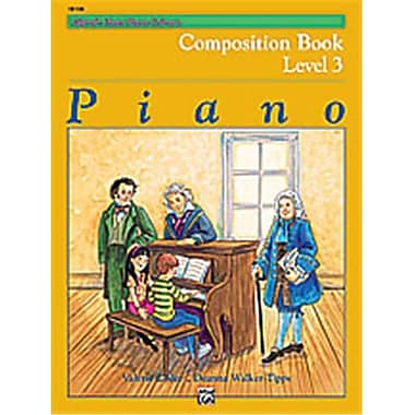 Alfred Basic Piano Course- Composition Book 3 - Music Book (ALFRD40676)
