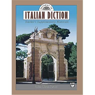 Alfred Gateway to Italian Diction - Music Book (ALFRD49044)