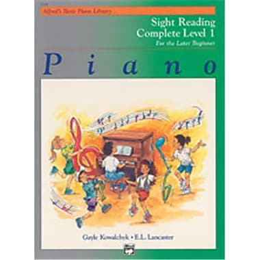Alfred Basic Piano Course- Sight Reading Book Complete Level 1- 1A-1B - Music Book (ALFRD40772)