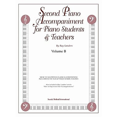 Alfred Second Piano Accompaniments- Volume B - Music Book (ALFRD41917)
