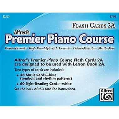 Alfred Premier Piano Course- Flash Cards- Level 2A - Music Book (ALFRD40906)