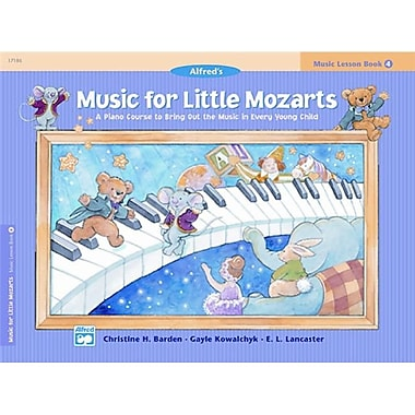 Alfred Music for Little Mozarts- Music Lesson Book 4 - Music Book (ALFRD41485)