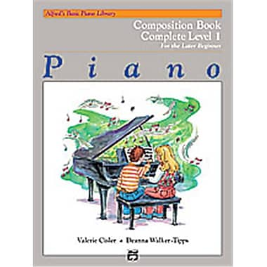Alfred Basic Piano Course- Composition Book Complete 1- 1A-1B - Music Book (ALFRD40634)