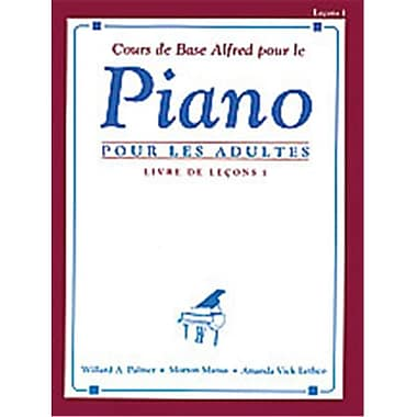 Alfred Basic Adult Piano Course- French Edition Lesson Book 1 - Music Book (ALFRD40545)